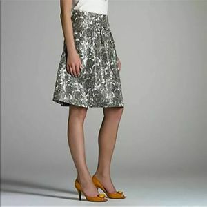 J crew sketchbook roses belle a line silk skirt 4